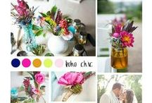 Color Story / A lot of times Brides have a great idea of what they picture their wedding to look like. Colors are normally the first to be picked! Here are some fun color stories we've put together featuring ZuZu's Petals!