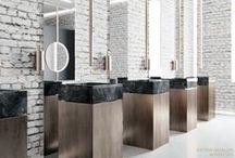 MINIMALIST | EXTRAVAGAUZA OFFICE DESIGN / Extravagauza Interiors | Contemporary office toilet design www.extravagauza.... #luxury #interior #design #offices #minimalism #interiordesigners