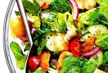 Salads / Veggie Salads and their dressings