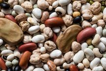 Grains and Legumes / Beans, rice, buckwheat, barley, millet, grits, couscous, wheat berries, farro, quinoa, lentils (peas except black eyed are listed under vegetables. Peanuts, soy nuts and carbon nuts are under nuts),