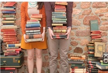 Bookworm Engagement / Organic, book-themed e-session.