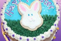 Everything Easter / Easter celebration cakes, Easter cookies and Easter cupcakes.