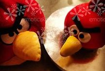 Angry Bird Party ideas (cakes, cupcakes, cookies and more) / This board is for Angry Bird cakes, cupcakes and cookies. There are also ideas for pizzas, fruit and other fun things for an Angry Bird Party!