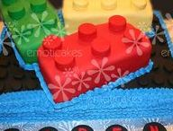 Lego Cakes, Cookies and Cupcakes / Lego cakes, Lego cupcakes, and Lego cookies. Short of a HUGE supply of legos, what more could your lego party need?