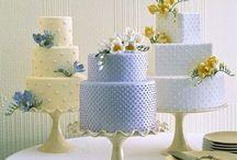 Gâteau Bleu de Mariage - Blue Wedding Cake