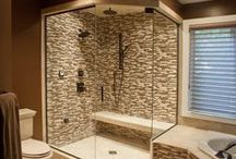 Beautiful Bathrooms / Amazingly beautiful retreat spaces.  A bathroom should be ones own personal space to unwind, refresh, regroup and re enter the world clean.  Call us to create your own personal spa or functional bathroom 301-865-2223 www.clarksburgplumbing.com
