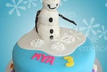 Frozen Cakes / Planning a Frozen themed party? Whether it is Olaf, Elsa or a ruffly cake inspired by Elsa's gown this board has ideas for you!