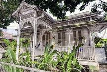 House & Home Photography / Caribbean,Island,homes,houses. A look at the architecture, colonial,old and dilapidated, new, cute,wooden,colorful houses  located in Trinidad, Curacao, Suriname