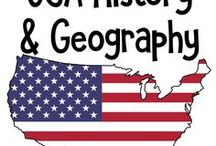 U.S History and Geography / Ideas and Printables for Teaching Homeschoolers the History and Geography of the USA