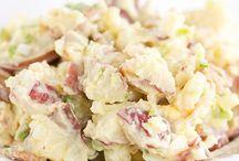 Bound Salads and Slaws / Potato salad, coleslaw, egg salad, tuna salad, chicken salads.