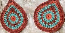 Rust and teal / Inspiration moodboard for crochet jewelry #crochetjewelry #crochetcolour #re-storythread&yarn #elegantjewelry #jewelrydesign