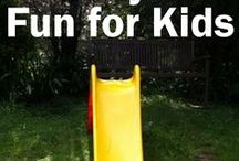 Backyard Fun for Kids / Kids need to be outside!  Make their time fun and productive with these amazing ideas.  See them implemented on my blog- www.inourpond.com