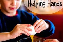 Recipes for Helping Hands- Kids in the Kitchen / Kids love to help cooking, but it can sometimes be difficult to find recipes that are safe for kids.  This board is all about teaching kids to cook, recipes they can bakes, and safe practices.