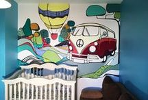 kids wall mural | pereti pictati copii / wall mural decor inspiration for kids
