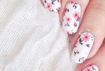 Nails. / Nail designs to try or nail polish I like.