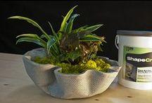 Concrete Planters - made with ShapeCrete / Concrete indoor and outdoor planters made with ShapeCrete Mix.
