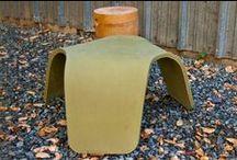 Concrete Furniture - made with ShapeCrete / Concrete indoor and outdoor furniture pieces made with ShapeCrete Mix.
