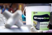 How to Videos : ShapeCrete Concrete Mix / How to concrete tutorial videos that show the various forms and shapes, thick- and thinness and textures you can achieve with ShapeCrete -- it Plays like Clay, Works like Concrete!