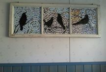 Handcrafts of myself / Hand made  mosaic projekts , nice tools to my garden