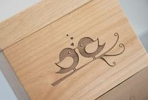 Personalized Recipe Boxes / Beautiful, wooden recipe boxes that are personalized with your name! Matching dividers and recipe cards are also included.