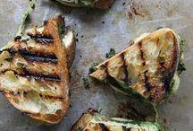 Bruschetta und Sandwiches