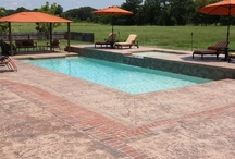 Inground Fiberglass Swimming Pools / West monroe Fiberglass Pool and Spa by Dolphin Pools www.dolphinpoolsla.com