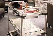 stainless steel serving carts