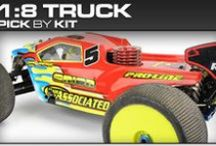 Pro-Line Racing 1:8 Truck Pick-By-Kit / If you know you have a 1:8 Truck but you aren't sure what Pro-Line products will fit then check out our pick-by-kit section to see what Pro-Line makes specifically for you!
