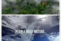 Save Nature / The world is beautiful, but it has a disease called humans