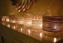 Idées lumineuses ! / J'adore bougies, éclairage spéciaux