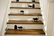 Escalier / Un jour peut être nous changerons l'escalier !  Et peut être aussi ... dans la grange !