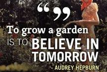 Quotes from the garden / Inspirational #quotes from the #garden - words to live by