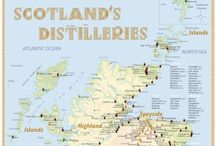 Scotland's Distilleries (Whisky Map) / Scotland's Distilleries; www.alba-collection.com / by Alba-Collection