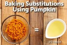 #PumpkinCan: Substitution/Tips / Pumpkin is great for substitution in many meal recipes