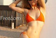 Orange sun crochet bikini / bikini,body,swimsuits,bohemian,hippie,boho,one,piece,2016,tankini,ideas,tankini,black,swimwear,limited,edition