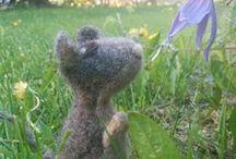 Felted Cuties / Cool handmade little animals