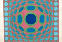 Vasarely and other Op Art Prints of the 1960s, 1970s & 1980s / My favourite Op Art, at the same time unashamedly plugging my own website, ModernPrints.co.uk