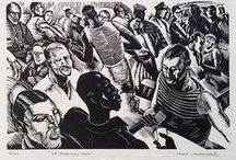 Linocuts & Woodcuts of the 20th Century / Beatiful linocuts and woodblock prints from 1900 onwards, mostly British, but not all. May include some of our own prints for sale at ModernPrints.co.uk