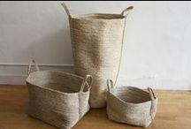Baskets/ natural / Baskets om natural material and Look