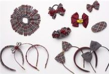 Hair Accessories / Headbands, ponytail holders, barrettes, hair clips & bows in plaids & solids - Schoolbelles has so many to choose from!  Shop for your school at www.schoolbelles.com to see the available styles & colors for your school.