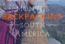 South America Travel Adventure / Future travel inspiration in South America: backpacking, destinations, tips, Itinerary, Columbia, Budget, Top 10, Argentina, Brazil, Chile, Peru, Ecuador, Galapagos, discover, explore and more adventures.