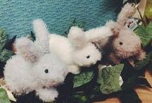 Easter Cuddling Toys / Jelly Cat Colorful Bunnies, small, medium and giant sizes!! And chicks, ladybugs, and much more ...