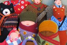 CLOTH DOLLS,SOFT TOYS... / IDEAS for doll making.FACES,and construction.