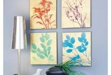 Canvas Art / Bring the feel of nature inside with these leaf paintings