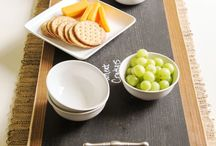 Charcuterie Board Inspiration / Spice up your kitchen with this fantastic blend of charcuterie boards and chalkboards