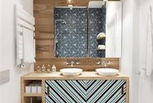 Autour de la salle de bain
