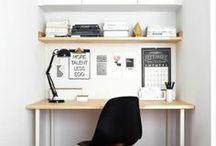 Autour du bureau, espace de travail....