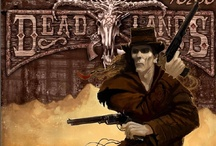 Deadlands the Weird West  RPG / Inspirations and Images for Deadlands RPG, the spaghetti Western with meat.  Wild west with horror, Indian spirit warriors, weird science, zombie gunslingers and kung fu.  Created by Shane Hensley of Pinnacle Ent. / by David Radzik