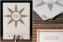 Paper <3 / Wedding related paper products; invitation suites, menus, table numbers, save the dates, programs, etc...