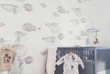 NAUTICAL NURSERY // / Fun salty sea baby nursery.